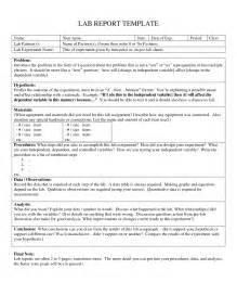 Science Fair Report Template 16 Best Images Of Lab Template Worksheet Science Lab