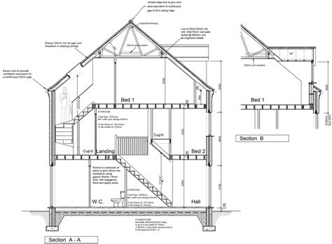 section working drawing south holland jb architectural design services