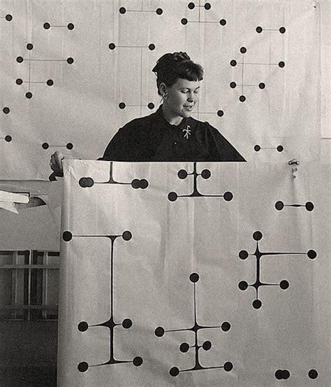 eames dot pattern history pjmix ray holding dot pattern fabric design circa 1947