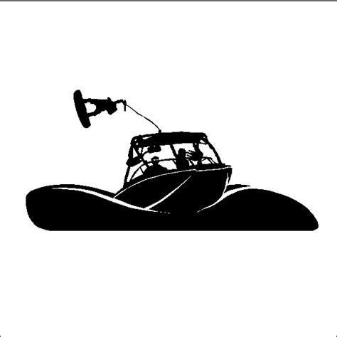 Wakeboard Getting Air Wall Decal