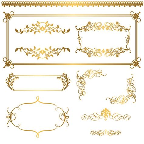gold pattern graphic gold lace pattern 05 vector free vector 4vector