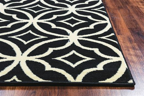 10 x 10 black area rug millington starry circles pattern area rug in black