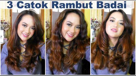 tutorial curly rambut menggunakan catok 3 tutorial cara catok rambut badai ala indonesia ft