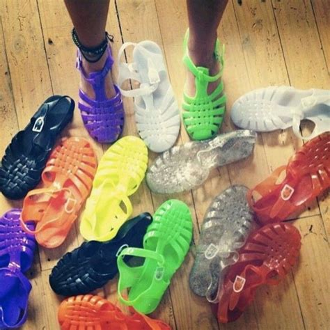 Jelly Shoes Anak Boots Rainbow jelly shoes i had 9 pairs in every color of the rainbow even glow in the blast from