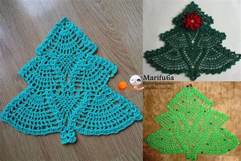 crochet pattern xmas crochet christmas tree doily hot pad by marifu6a craftsy