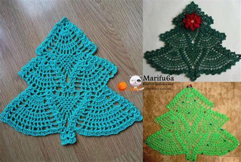 Christmas Tree Hot Pad Pattern | crochet christmas tree doily hot pad by marifu6a craftsy