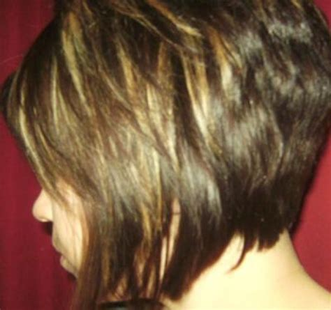 hair styles with short front and stacked back stacked bob haircut front and back view to download