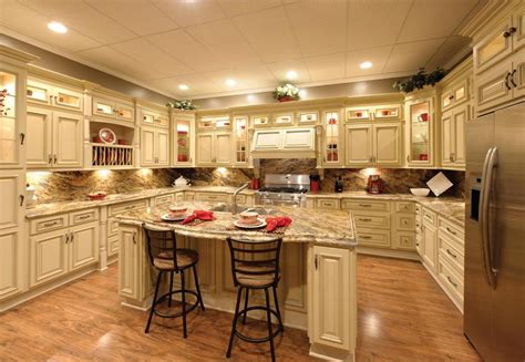kitchen with antique white cabinets granite installation jmarvinhandyman