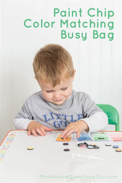 paint chip color match busy bag