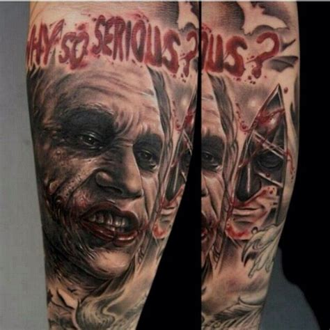brown soul tattoos why so serious joker via fred tattoo instagram