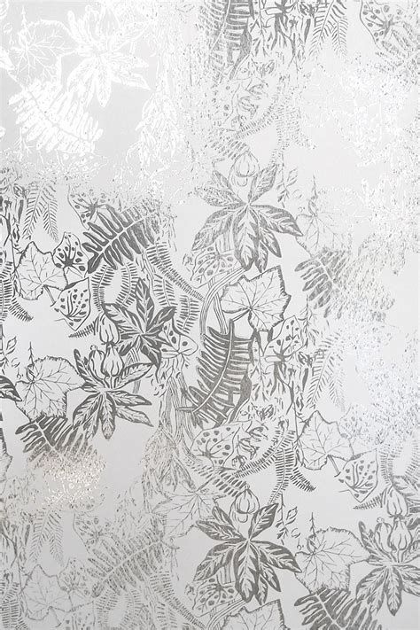 hothouse wallpaper silver and white monument interiors
