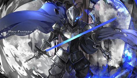 anime knight girl wallpaper original characters knight pixiv fantasia fallen