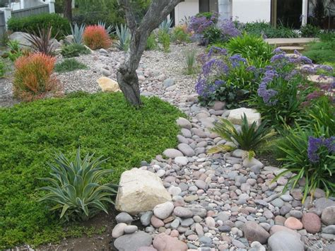 create dry riverbed landscape ideas bistrodre porch and