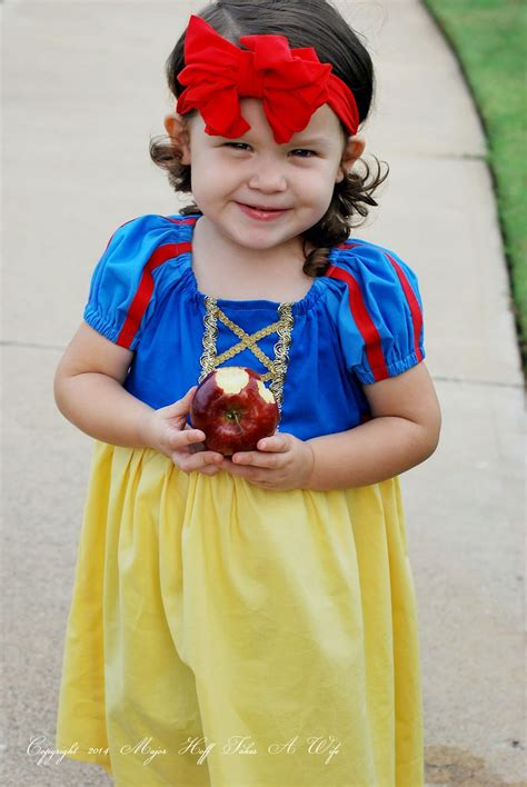 Handmade Snow White Costume - easy to sew snow white peasant dress for or