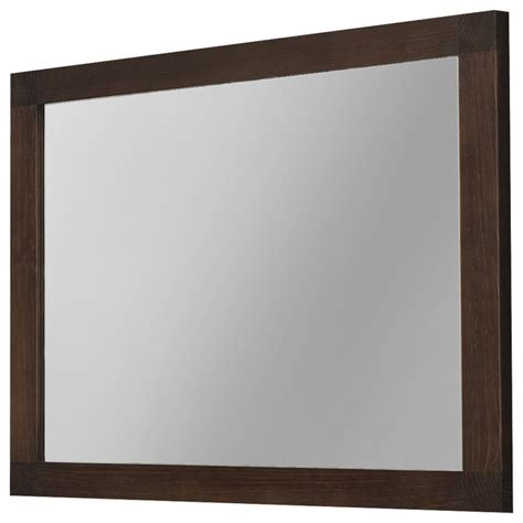 wood bathroom mirrors 40 quot nordico wall framed mirror solid wood walnut contemporary bathroom mirrors by macral