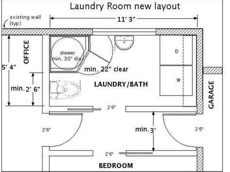 laundry room layout with measurements google search laundry bathroom combo layout google search home decor