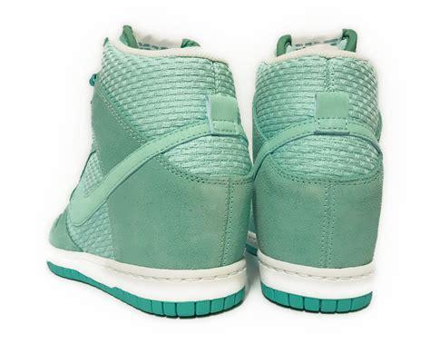 wedge sneakers size 11 nike dunk sky hi essental teal white womens sneakers wedge