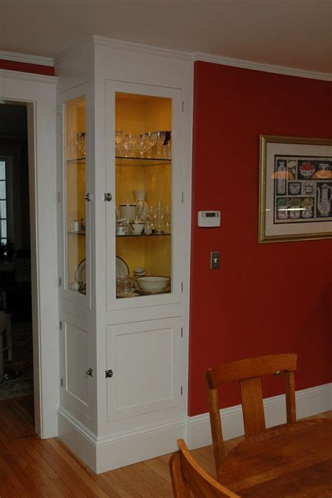 built in corner cabinet build corner curio cabinet woodworking projects plans