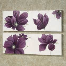 Purple Wall Decor by Floral Whispers Canvas Wall Set