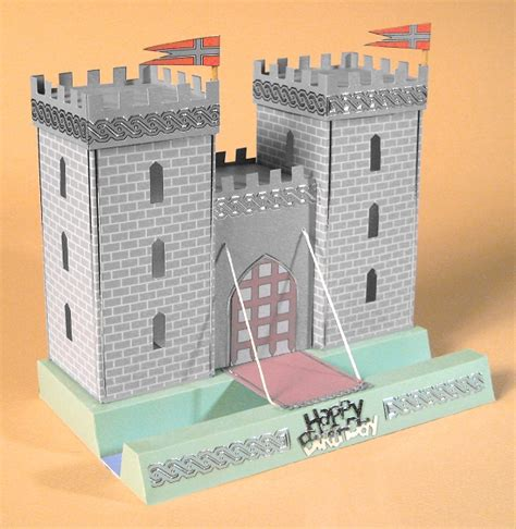 Gift Card Holder Castle Template by Card Craft Card Templates Opening 3d Castle By