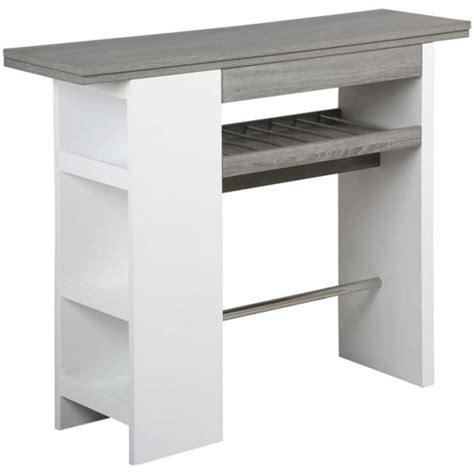 table bar rangement cuisine table de bar avec rangement en mdf l 1400 x p achat