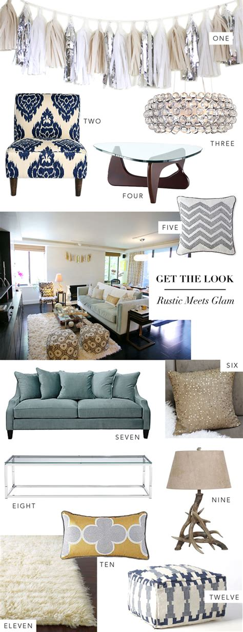 interior get the look rustic meets glam theglitterguide