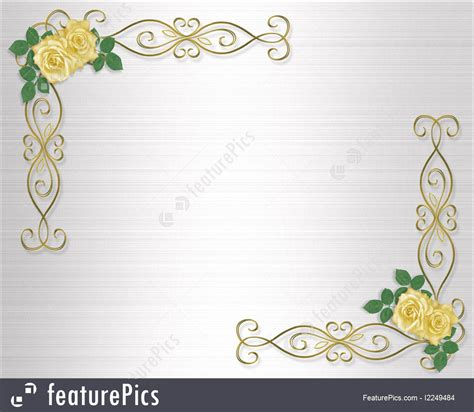 Free Online Home Color Design Software by Templates Yellow Roses Wedding Invitation Border Stock
