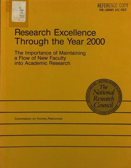 what is the importance of the new year research excellence through the year 2000 the importance