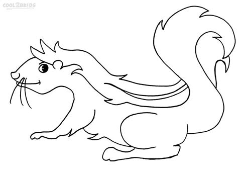 coloring book page of a skunk printable skunk coloring pages for kids cool2bkids