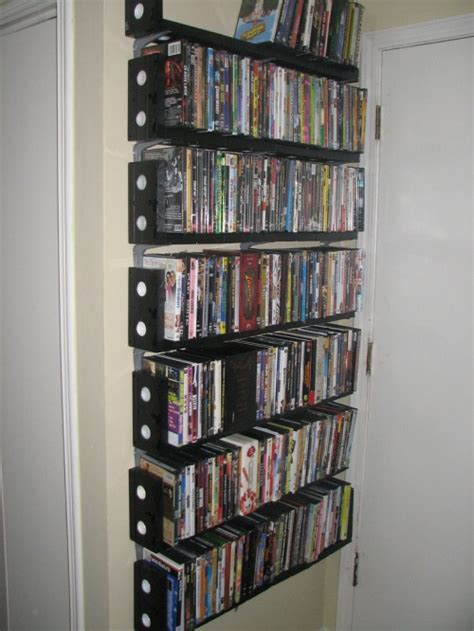 Dvd Shelf by Dvd Rack Made From Vhs Cassettes Neatorama
