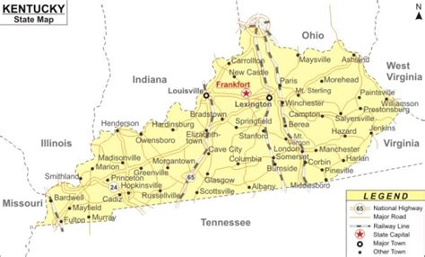 state of kentucky map fort cbell aaf ky 42223 uj space a info