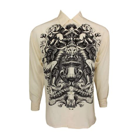 Go Ceilings Shirt by Timney Fowler For Go Silk Cherubic Ceiling Shirt At 1stdibs