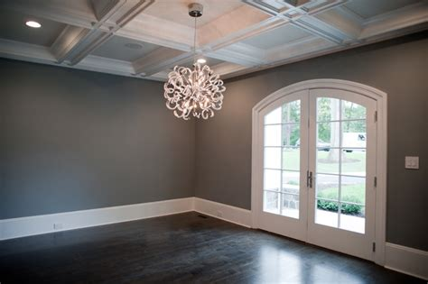 dark walls dark gray walls transitional dining room muralo pain