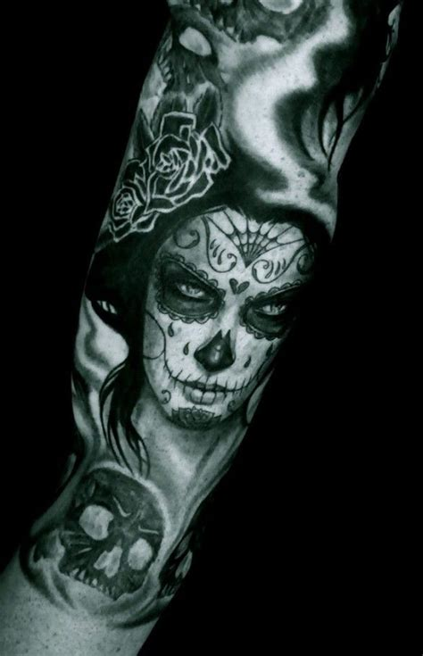 spooky santa muerte tattoo tattoos book