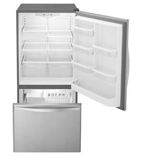 Bottom Drawer Freezer by Wrb329dmbm Whirlpool 19 Cu Ft Bottom Freezer