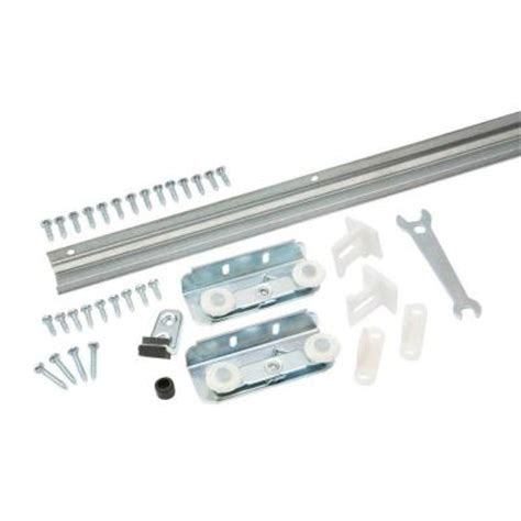 everbilt 36 in pocket pocketless door hardware set 18394