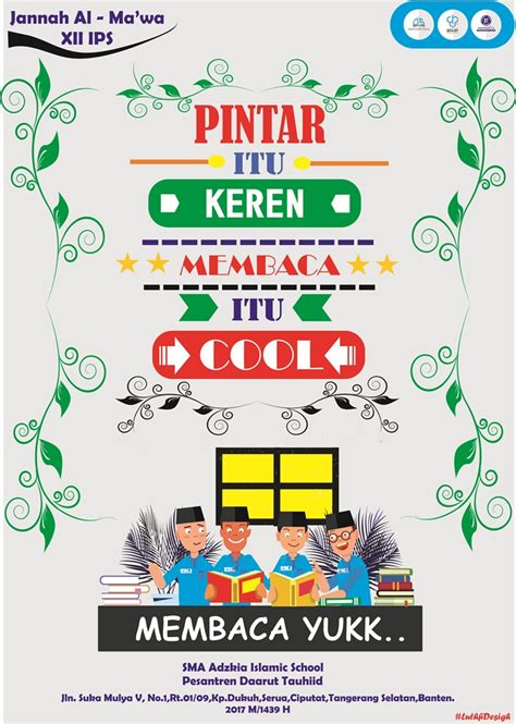 php seputar baca sma adzkia gelar lomba poster literasi
