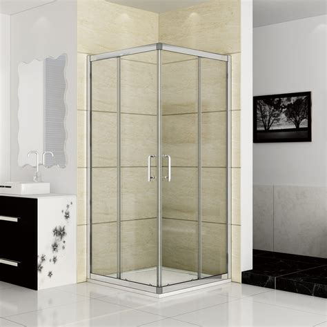 Corner Entry Shower Door New 1200x800mm Sliding Shower Enclosure Corner Entry Glass Cubicle Door Ebay