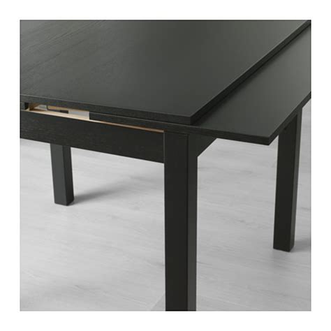 bjursta tavolo allungabile bjursta extendable table brown black 90 129 168x90 cm ikea