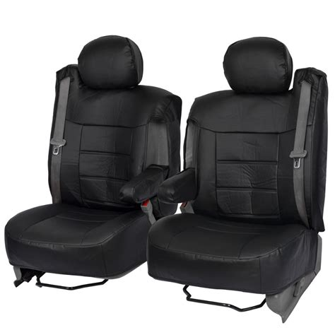 replacement leather seat covers for trucks black pu leather front seat covers luxury for built in