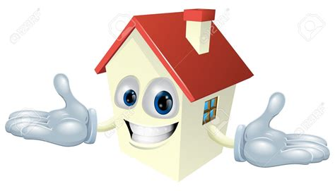 House Cleaning cartoon house character clipart 73