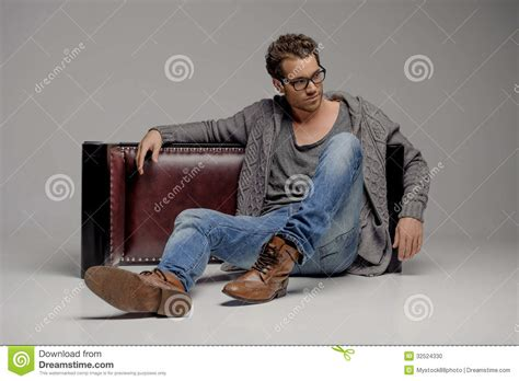 Vintage Home Floor Plans handsome guy handsome young men in glasses sitting on the