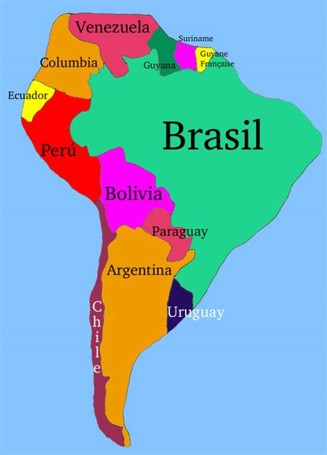 south america map with country names ms loftin 7th grade dartmouth geography december 2011