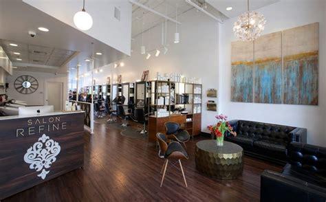 salon refine moss interior design  seattle