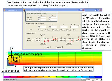 sap2000 section designer section cut in sap2000 with exle structural
