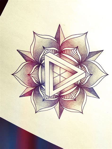 triangle tattoo design penrose mandala design penrosetriangle triangle