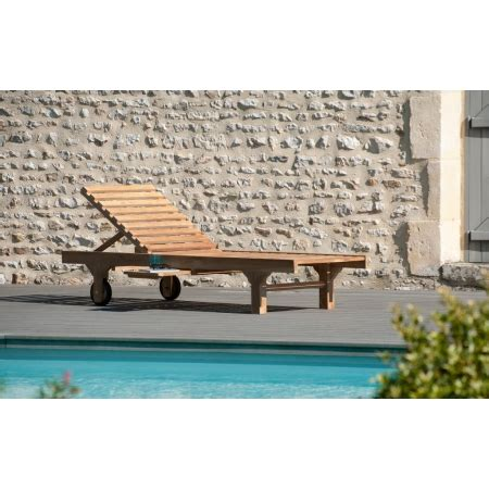 table de salon de jardin 2930 bain de soleil avec roulettes teck meubles macabane
