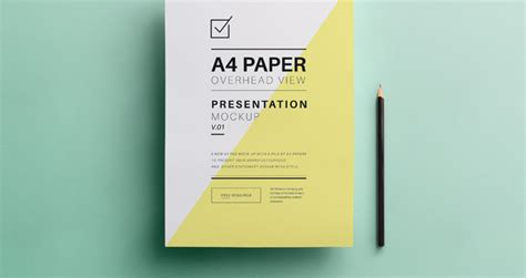psd a4 overhead paper mock up psd mock up templates
