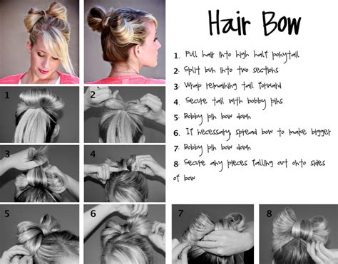 hairstyles how to do a bow how to style a hair bow fashionisers