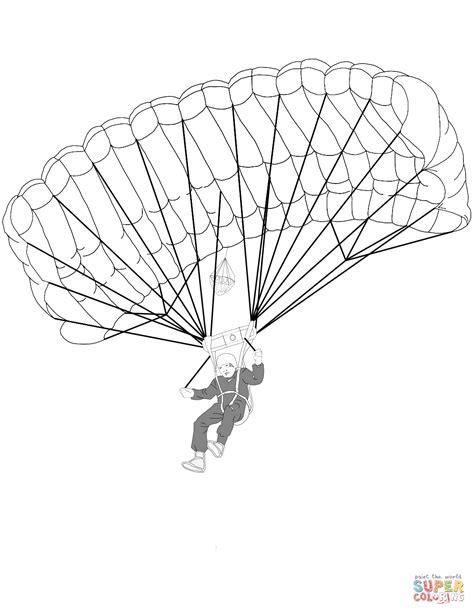 army parachute coloring pages faldsk 230 rmsudspringer tegninger